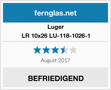 Luger LR 10x26 LU-118-1026-1 Test