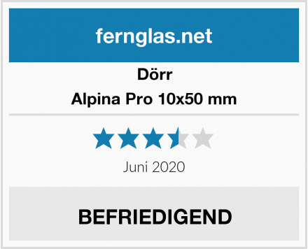 Dörr Alpina Pro 10x50 mm Test