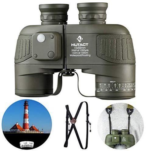 HUTACT 10x50 Militär Fernglas Kompakt